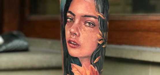 tatuaż niewiasta
