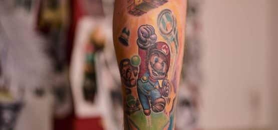 tatuaż Super Mario