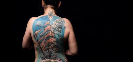 tatuaż Statek