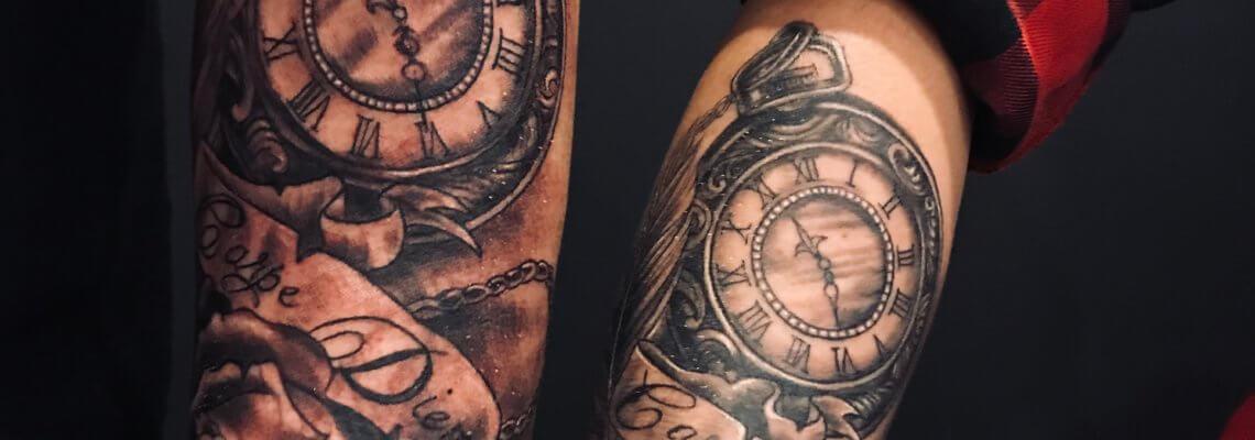 tatuaz czarny na rece